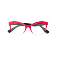 Miu Miu Eyewear Armação De Óculos Gatinho - Rosa