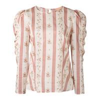 Brock Collection Blusa Listrada Com Estampa Floral - Marrom