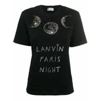 Lanvin Camiseta Estampa 'paris Night' - Preto