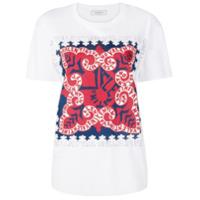 Valentino Camiseta Com Estampa Frontal - Branco