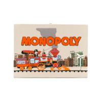 Olympia Le-Tan Clutch 'monopoly Train' Retangular - Neutro