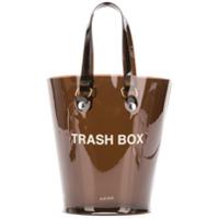 Nana-Nana Not A Trash Box Small Bucket Bag - Preto