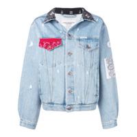 Forte Dei Marmi Couture Jaqueta Jeans Com Acabamento De Bandana - Azul