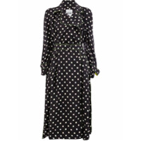 Koché Polka Dot Trench Coat - Preto