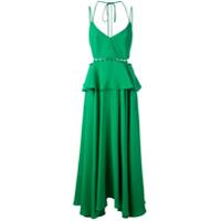 Prabal Gurung Vestido Peplum - Verde