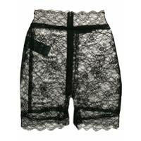 Dundas Shorts De Renda - Preto