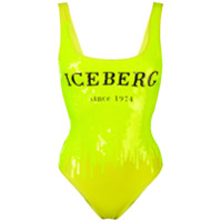 Iceberg Maiô Com Aplicação De Paetês - Verde