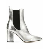 Paris Texas Ankle Boot Bico Fino - Prateado