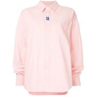 Ader Error Camisa Oversized - Rosa