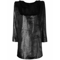 Dundas Vestido Com Brilho - Preto