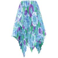 Richard Quinn Saia Com Estampa Floral - Azul