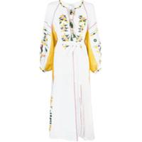 Vita Kin Vestido Com Bordado - Branco