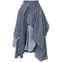 Enföld Deconstructed Shirt-Skirt - Azul