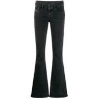 Diesel Calça Jeans Flare - Preto