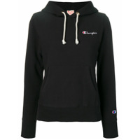 Champion Moletom Com Logo Bordado - Preto