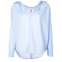 A Shirt Thing Camisa Com Gola Desfiada - Azul
