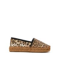 Dolce & Gabbana Espadrille Animal Print - Marrom