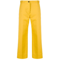Nine In The Morning Calça Reta Cropped - Amarelo