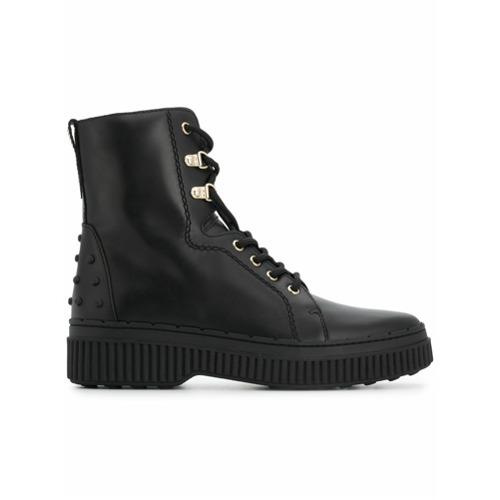 Imagem de Tod's Ankle boot com cadarço de couro - Preto
