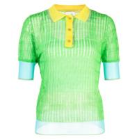 I-Am-Chen Blusa Polo Com Recortes De Seda - Verde
