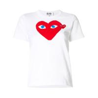 Comme Des Garçons Play Camiseta Com Logo De Coração - Branco