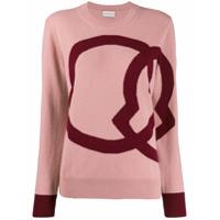 Moncler Suéter Com Padronagem - Rosa