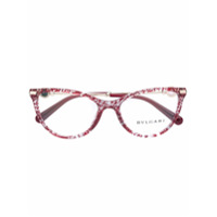 Bulgari Armação De Óculos Gatinho - Vermelho