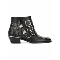 Chloé Ankle Boot Susanna De Couro - Preto