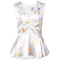 Jason Wu Collection Blusa Floral - Cinza