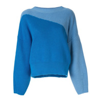 Anna October Suéter Color Block - Azul