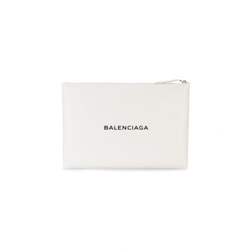 Imagem de Balenciaga Bolsa carteira de couro 'Navy' - Branco