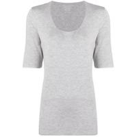 Majestic Filatures Camiseta Decote Em U - Cinza