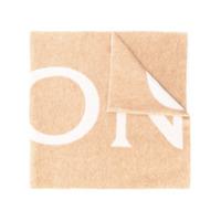 Moncler Cachecol Com Logo - Neutro
