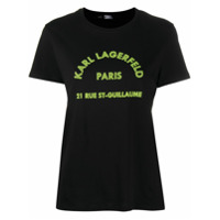 Karl Lagerfeld Camiseta Decote Careca Com Estampa De Logo - Preto