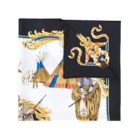 Versace Cachecol De Seda Estampado