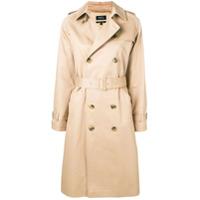 A.p.c. Trench Coat Com Cinto - Neutro