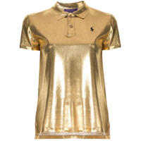 Ralph Lauren Collection Camisa Polo Metalizada - Dourado