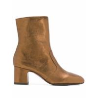 Chie Mihara Nanaylon Metallic Ankle Boots - Marrom