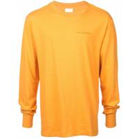 Aimé Leon Dore Camiseta Mangas Longas Com Logo - Amarelo