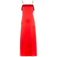 Deitas Vestido Coco De Seda - Vermelho