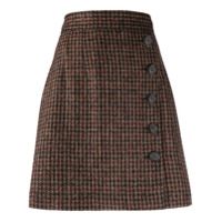 Dolce & Gabbana Saia Evasê De Tweed - Marrom