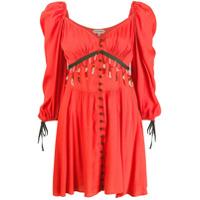 Giacobino Vestido Com Aplicação De Contas - Rosa