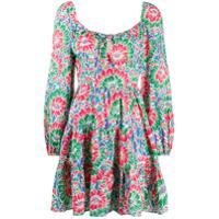 Rixo Vestido Com Estampa Floral E Amarração Na Gola - Verde