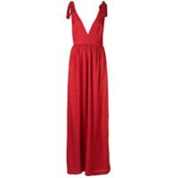 Rebecca Vallance Vestido Harlow Com Laço - Vermelho