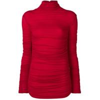 Pinko Blusa De Tricô Drapeada - Vermelho