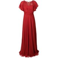 Nº21 Vestido De Seda Longo - Vermelho