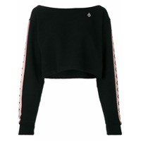 Marcelo Burlon County Of Milan Blusa De Moletom Cropped - Preto