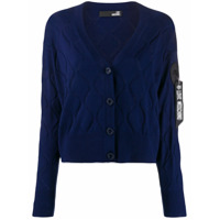 Love Moschino Wave-Embellished Cardigan - Azul