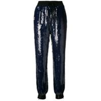 Hilfiger Collection Calça Esportiva Com Aplicação De Paetês - Azul