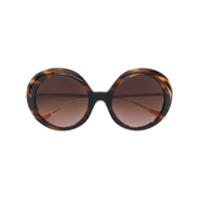Christian Roth Eyewear Óculos De Sol Oversized - Marrom